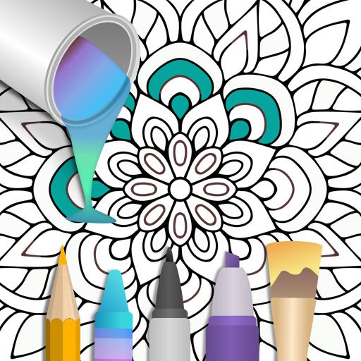 100+ Mandala coloring pages Apk Mod latest 2.1.3