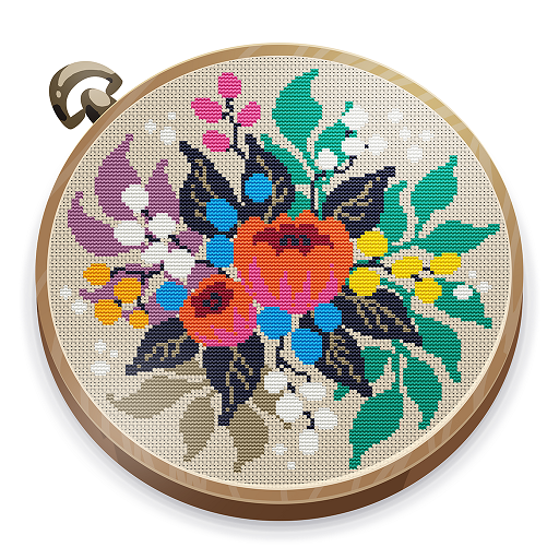 Cross Stitch Club — Color by Numbers with a Hoop  1.4.39 Apk Mod (unlimited money) Download latest