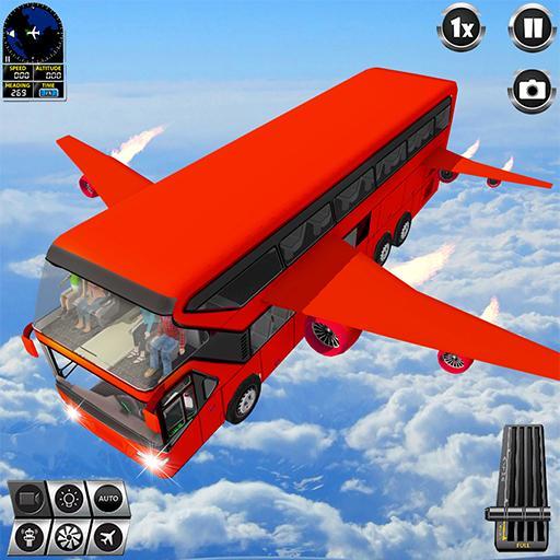 Flying Bus Driving simulator 2019: Free Bus Games Apk Mod latest 3.0