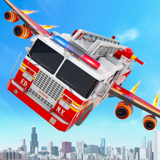 Flying Firefighter Truck Transform Robot Games Apk Mod latest 28