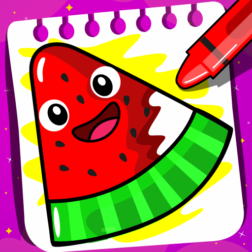 Fruits Coloring book & Food Drawing book Kids Free 1.8 Apk Mod (unlimited money) Download latest