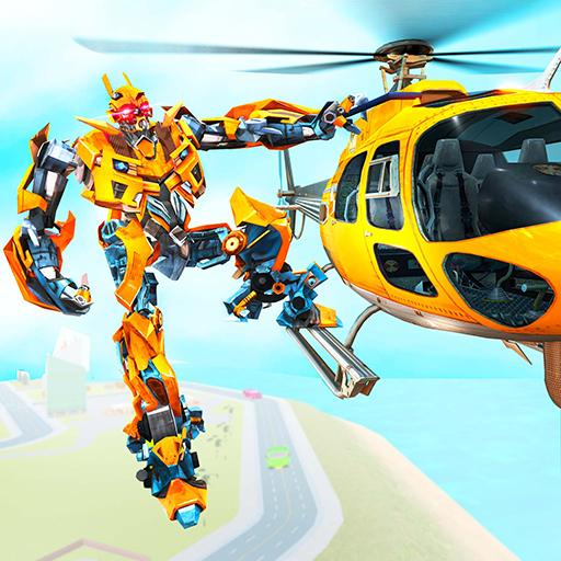 Helicopter Robot Transform War – Air robot games  Apk Mod latest 1.0.16