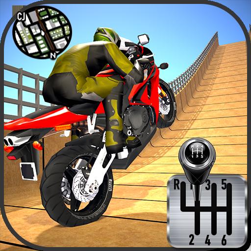 Impossible Stunts Bike Racing Games 2018: Sky Road Apk Mod latest 1.6