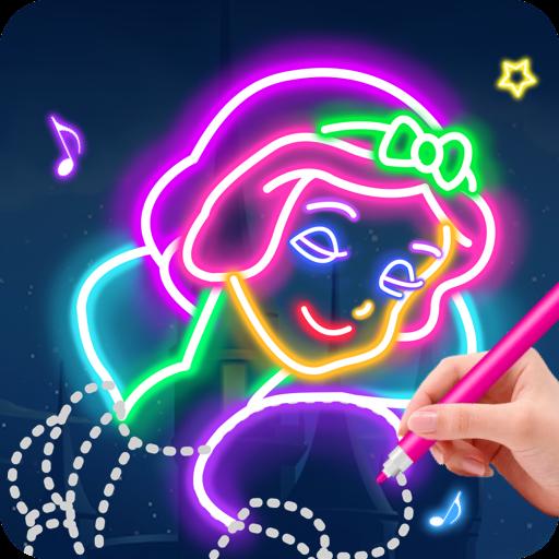 Learn To Draw Glow Princess  Apk Mod latest 1.0.19