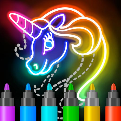 Learn to Draw Glow Cartoon Apk Mod latest 1.0.19