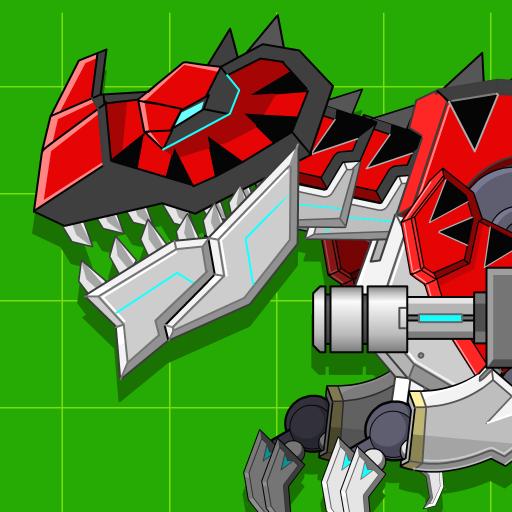 Red T-Rex Robot Dinosaur Apk Mod latest 2.4