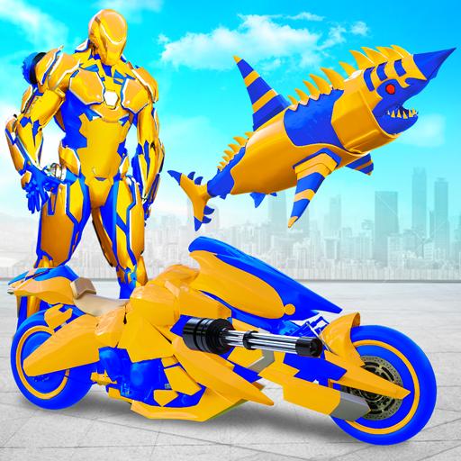 Robot Shark Attack: Transform Robot Shark Games 38 Apk Mod (unlimited money) Download latest