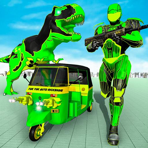 Tuk Tuk Auto Rickshaw Transform Dinosaur Robot  Apk Mod latest 1.9