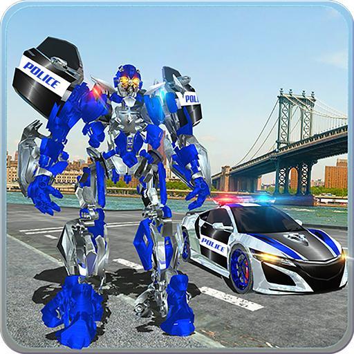 US Police Car Real Robot Transform: Robot Car Game  Apk Mod latest 163