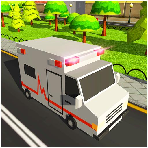 Blocky US Fire Truck & Army Ambulance Rescue Game  Apk Pro Mod latest 1.0.5