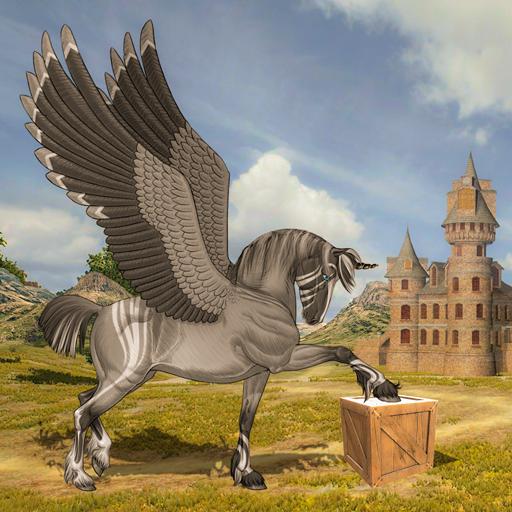 Flying Unicorn Horse Family Jungle Survival 4.6 Apk Mod (unlimited money) Download latest