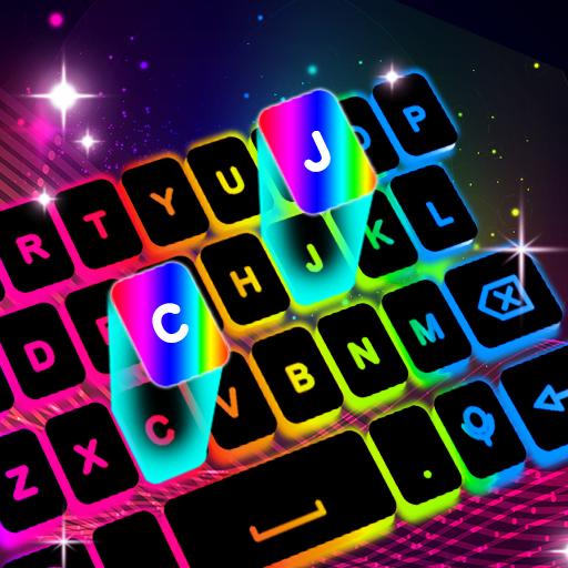 Neon LED Keyboard – RGB Lighting Colors  Apk Mod latest 1.3.2