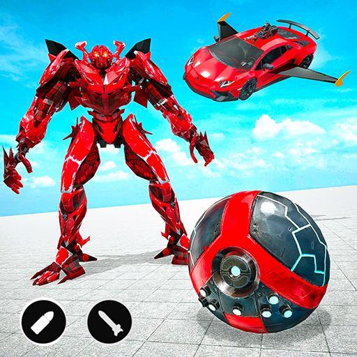 Red Ball Robot Car Transform: Flying Car Games Apk Mod latest