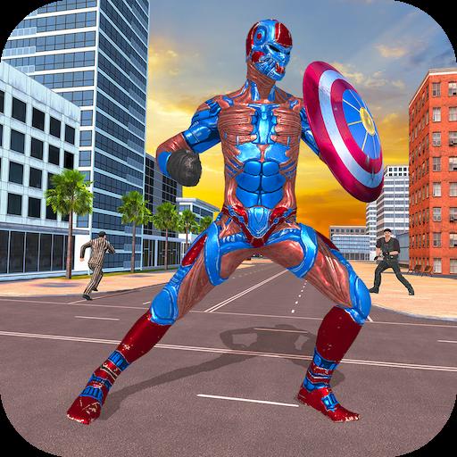 Superhero Captain Robot Games:Black Hole Rope Hero Apk Mod latest 1.9