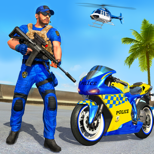 US Police Bike Gangster Chase: Police Bike Games Apk Mod latest 1.1.3