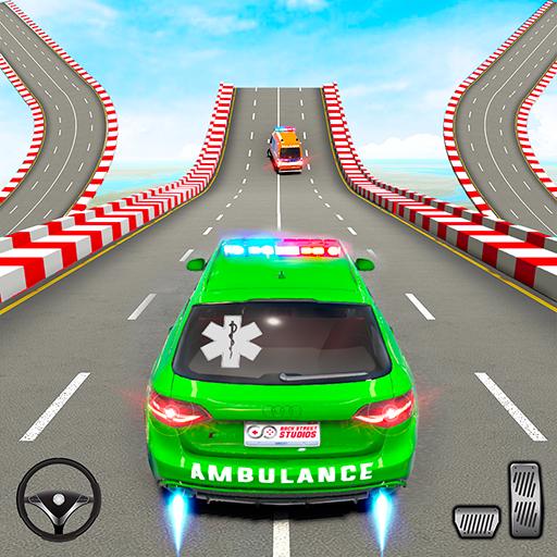 Ambulance Car Stunt: Mega Ramp Stunt Car Games  3.0 Apk Pro Mod latest