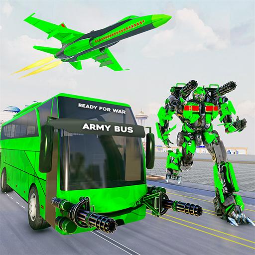 Army Bus Robot Transform Wars – Air jet robot game   Apk Pro Mod latest 4.0