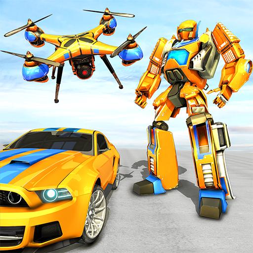 Drone Robot Car Game – Robot Transforming Games   Apk Pro Mod latest 1.2.3