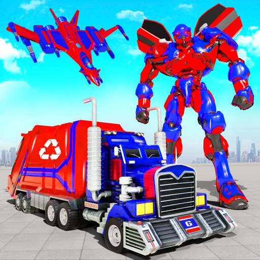 Flying Garbage Truck Robot Transform: Robot Games  Apk Pro Mod latest 28