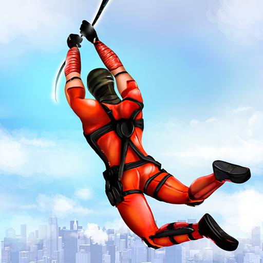 Flying Ninja Rope Hero: Light Speed Ninja Rescue  Apk Mod latest