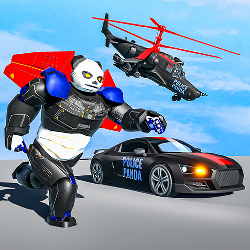 Flying Police Panda Robot Game: Robot Car Game Apk Pro Mod latest 1.0.5