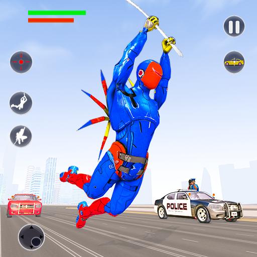 Flying Robot Rope Hero Vegas Crime City Gangster Apk Pro Mod latest 3.8