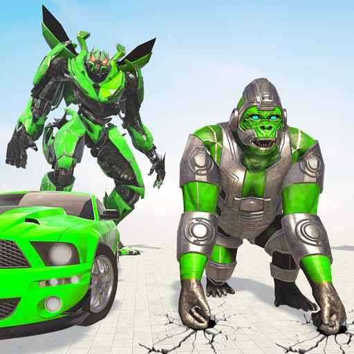 Gorilla Robot Car Games- Transform War Robot Games Apk Pro Mod latest 3.0