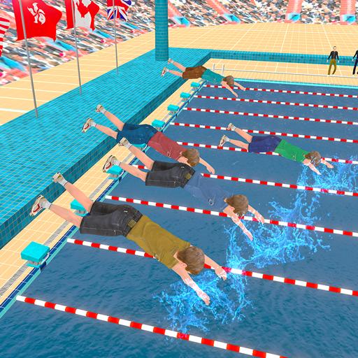 Kids Swimming Pool Water Race Championship 2020  Apk Pro Mod latest