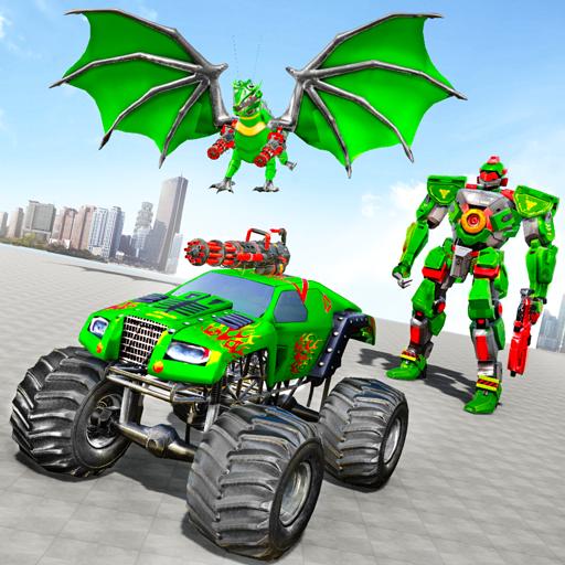Monster Truck Robot Wars – New Dragon Robot Game Apk Pro Mod latest 1.1.5