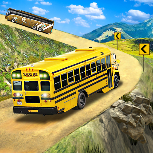 Offroad School Bus Driving: Flying Bus Games 2020  1.41 Apk Mod (unlimited money) Download latest