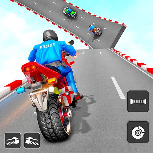 Police Bike Stunt Games: Mega Ramp Stunts Game   Apk Pro Mod latest 1.3