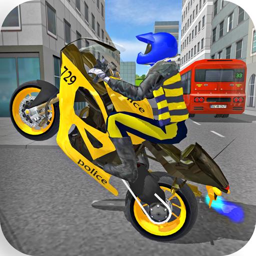 Police Motorbike Race Simulator 3D  Apk Mod latest