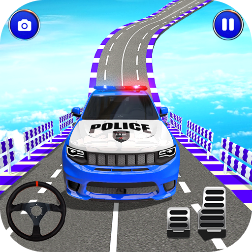 Police Spooky Jeep Stunt Game: Mega Ramp 3D Apk Pro Mod latest 1.0