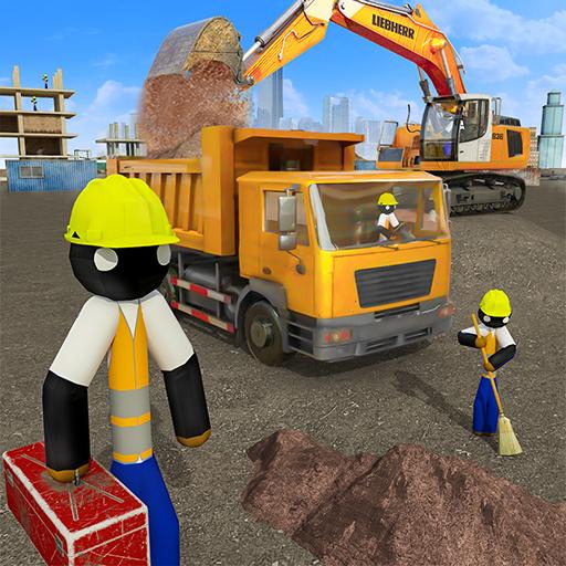 Stickman City Construction Excavator 2.8 Apk Mod (unlimited money) Download latest