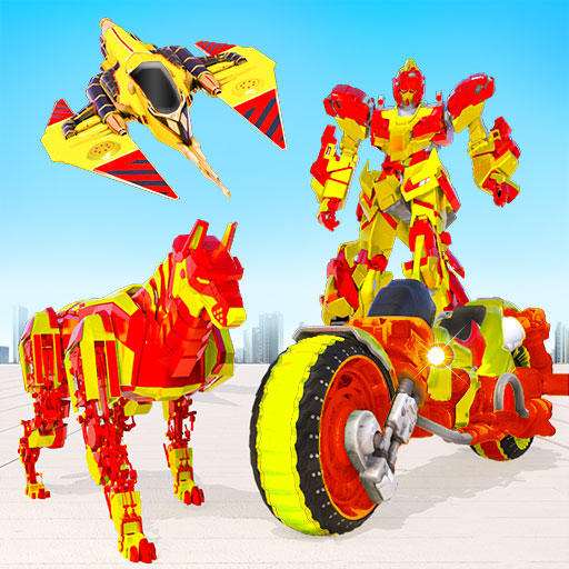 US Police Dog Robot Transform Bike Robot Games  Apk Mod latest