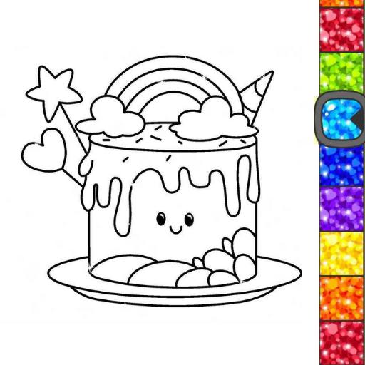Unicorn Glitter Coloring Book: Coloring Unicorn🦄  Apk Mod latest