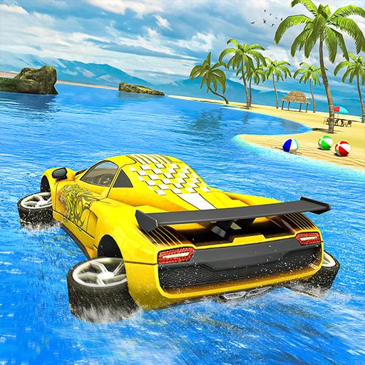 Water Surfer car Floating Beach Drive  Apk Mod latest