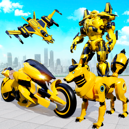 Wild Fox Transform Bike Robot Shooting: Robot Game  18  Apk Pro Mod latest