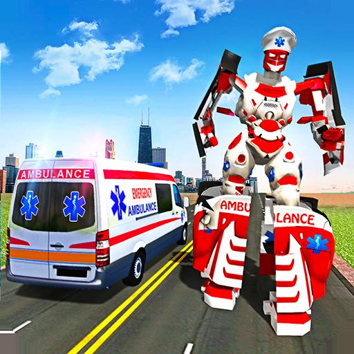 Ambulance Robot City Rescue Game Apk Mod latest 1.9