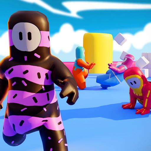 Among Guys fall racing games. Epic race fun games Apk Pro Mod latest 12.0