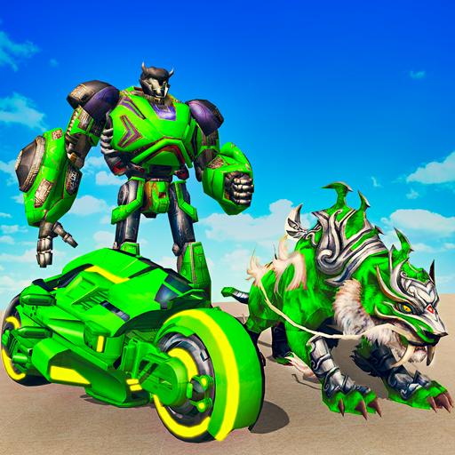 Flying Tiger Robot Attack: Flying Bike Robot Game   Apk Pro Mod latest 2.8