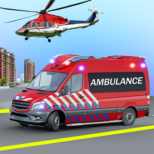 Heli Ambulance Simulator 2020: 3D Flying car games  Apk Pro Mod latest1.15