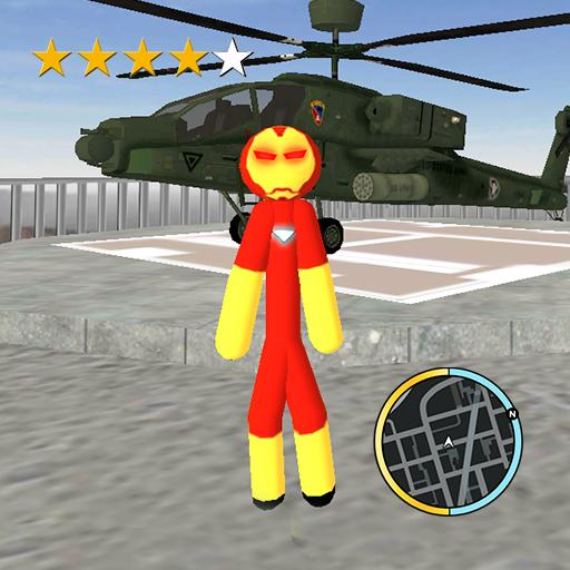 Iron Stickman Vegas Crime Rope Hero Simulator Apk Pro Mod latest 1.1