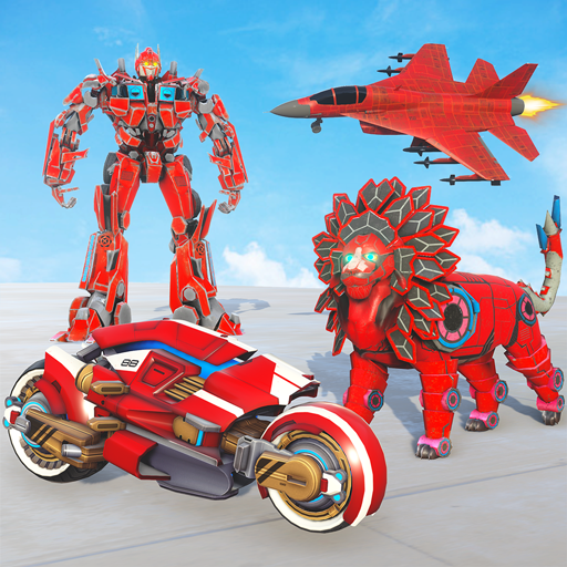 Lion Robot Transforming Games : Bike Robot Games 2.2 Apk Mod (unlimited money) Download latest