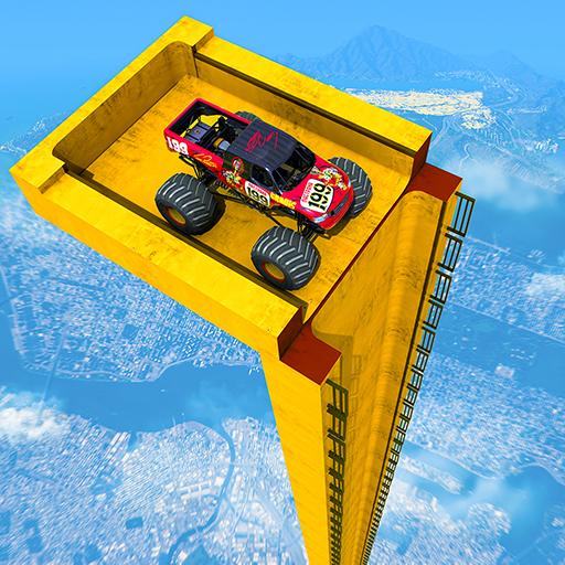 Mega Ramp Monster Truck Driving Stunts Racing Game  Apk Pro Mod latest 2.0.11