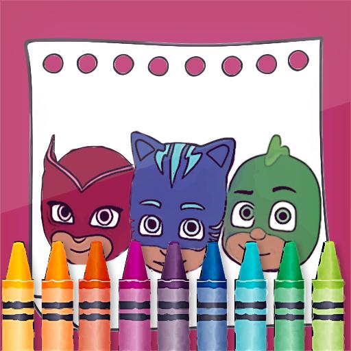 PJ Superheroes Masks Coloring  Apk Mod latest 2.4