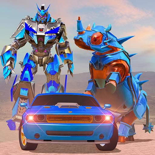 Rhino Robot Car Transformation: Robot City battle Apk Mod latest 0.6