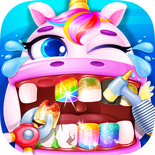 Unicorn Dentist – Rainbow Pony Beauty Salon  Apk Pro Mod latest 1.4
