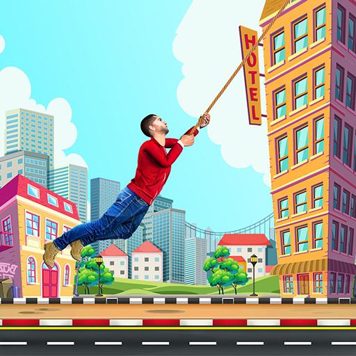 City bounce rope hero–Free offline adventure games Apk Mod latest
