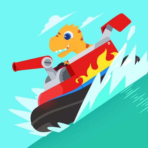 Dinosaur Patrol Boat – Coast Guard Games for kids Apk Mod latest